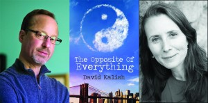 Author David Kalish, his debut book and interviewer Lale Davidson.